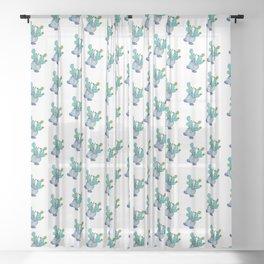 Prickly Pear Cactus Boi Sheer Curtain