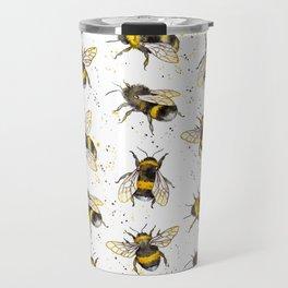 Fluffy Bumblebees (Pattern) Travel Mug
