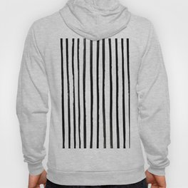 Vertical Black and White Watercolor Stripes Hoody
