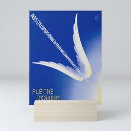 Flèche D'Orient - Vintage Air France Travel Poster Mini Art Print