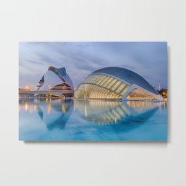 City of Arts and Sciences VIII by CALATRAVA architect Metal Print