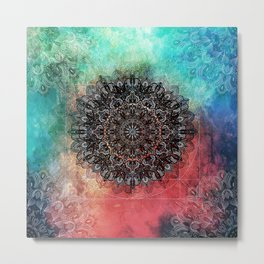 Higher Cosmic Vibrations Mandala Metal Print