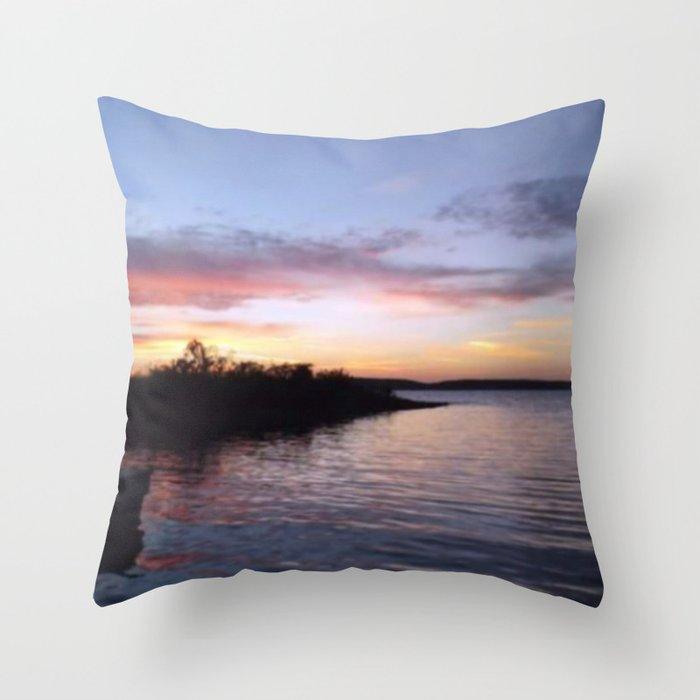 Sunset on Kentucky Lake Deko-Kissen