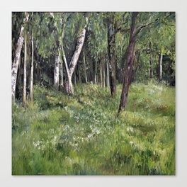 Woodland Forest Landscape Nature Art Canvas Print