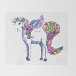 Madeline the Magic Unicorn Throw Blanket