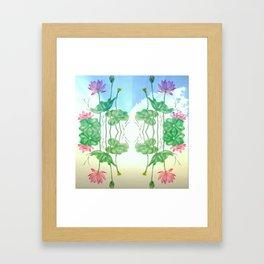 Lotus in the Skies Framed Art Print