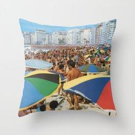 Vintage Copacabana Throw Pillow