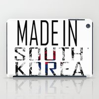 korea iPad Cases featuring Made In South Korea by VirgoSpice