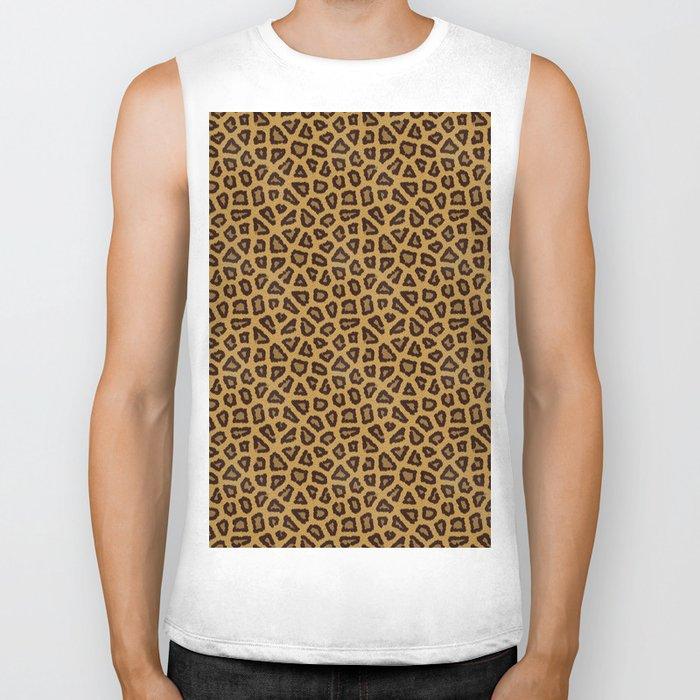 Leopard Skin Fur Pattern Biker Tank