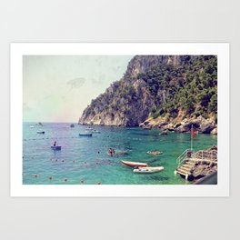 Cliffside Capri Art Print
