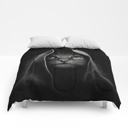 Cat portrait Comforters