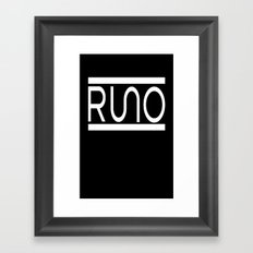 Rue Nothing RUNO Logo White Framed Art Print