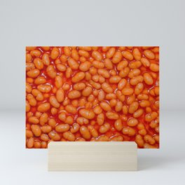 Baked Beans in Red Tomato Sauce Food Pattern  Mini Art Print