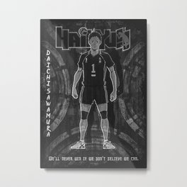 Anime Haikyu Metal Print