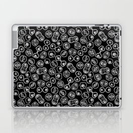 Mitosis - White on Black Laptop & iPad Skin