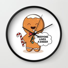 Gingerbread Matching Group Everyone Loves A Ginger Wall Clock