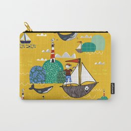Pirates Ahoy Yellow Carry-All Pouch