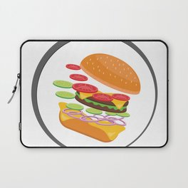 Awesome Burger falling down - I love Burger Laptop Sleeve