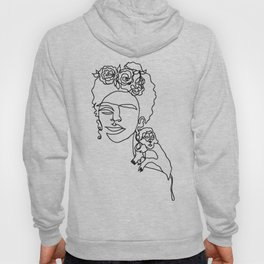 Frida, one line drawing Hoody
