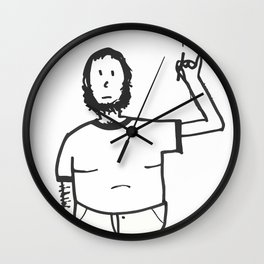 Fat Dude Smokes Wall Clock