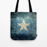 islam Tote Bags featuring Somalian national flag - Vintage version by Bruce Stanfield
