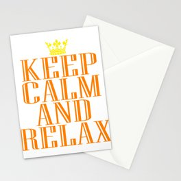"""""""Keep Calm and Relax"""" tee design perfect for your chill-out mood. Makes a nice gift for everyone too Stationery Cards"""