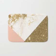 Gold marble collage Bath Mat