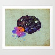 Cosmic Chip Cookie  Art Print