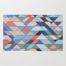 Triangle Pattern No. 7 Diagonals Rug