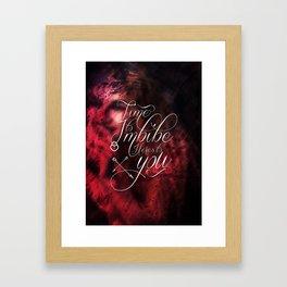 Imbibe Framed Art Print