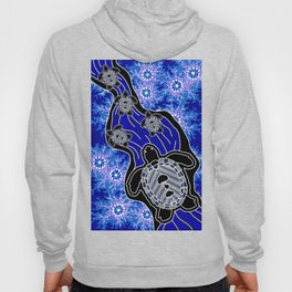 Baby Sea Turtles - Aboriginal Art Hoody
