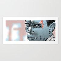 arnold Art Prints featuring Arnold Scharzenegger by HATCHER_DRAWS
