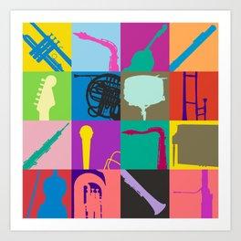 Pop Music Art Art Print