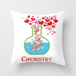 Valentines day. Chemistry of love. Gift for Valentines day. Throw Pillow
