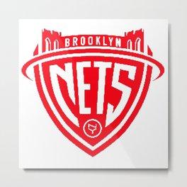 Bklyn nets logo Metal Print