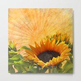 Good Morning Sunflower Metal Print