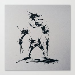 Splaaash Series - Claws Ink Canvas Print