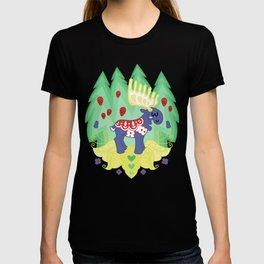 Blue Valley Moose - swedish dala-horse T-shirt