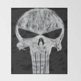 Punisher skull Throw Blanket