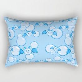Bubbles and Bats Dark Blue Rectangular Pillow