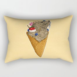 Brown Seal Ice Cream Rectangular Pillow