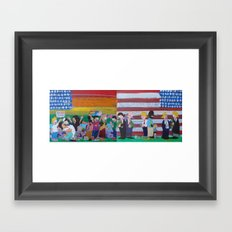 United We Stand Divided We Fall 12: Together Framed Art Print
