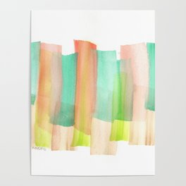 [161228] 5. Abstract Watercolour Color Study |Watercolor Brush Stroke Poster