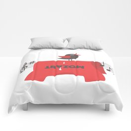 composer t-shirt Comforters