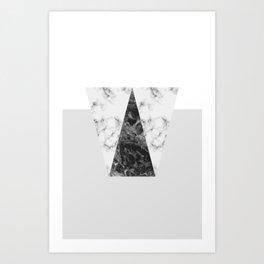 MARBLE - GREY Art Print