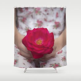 Single Rose Shower Curtain
