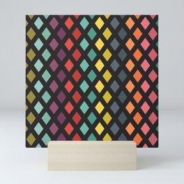 Vintage rhombs Mini Art Print