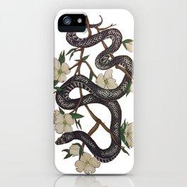 Floral Black Snake iPhone Case