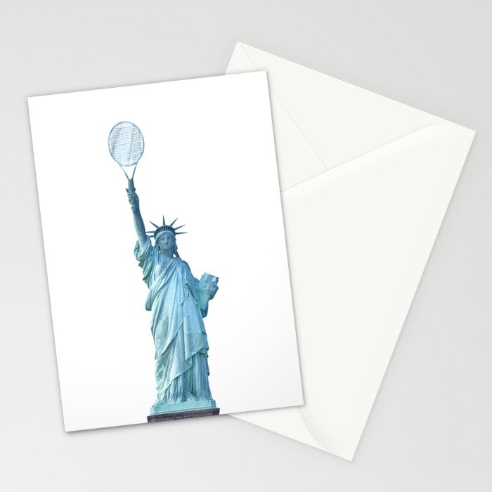 Statue of Liberty with Tennis Racquet Stationery Cards