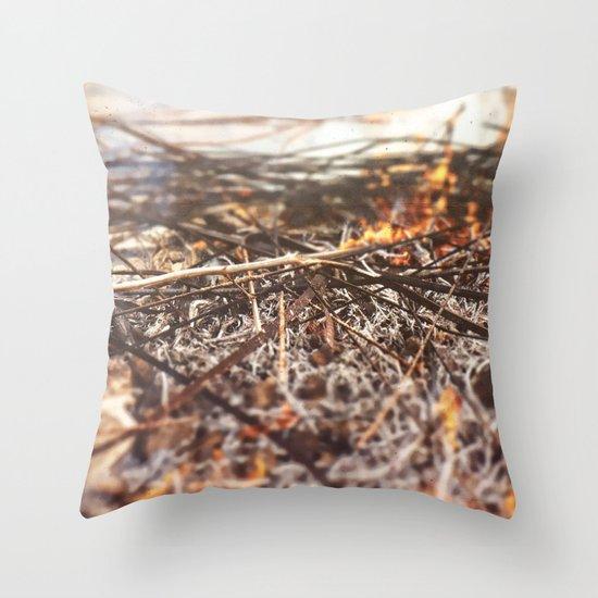 Burn Throw Pillow